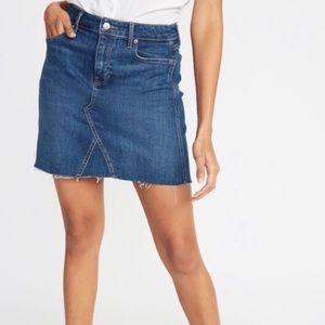 Old Navy High-Waisted Frayed-Hem Denim Skirt 10